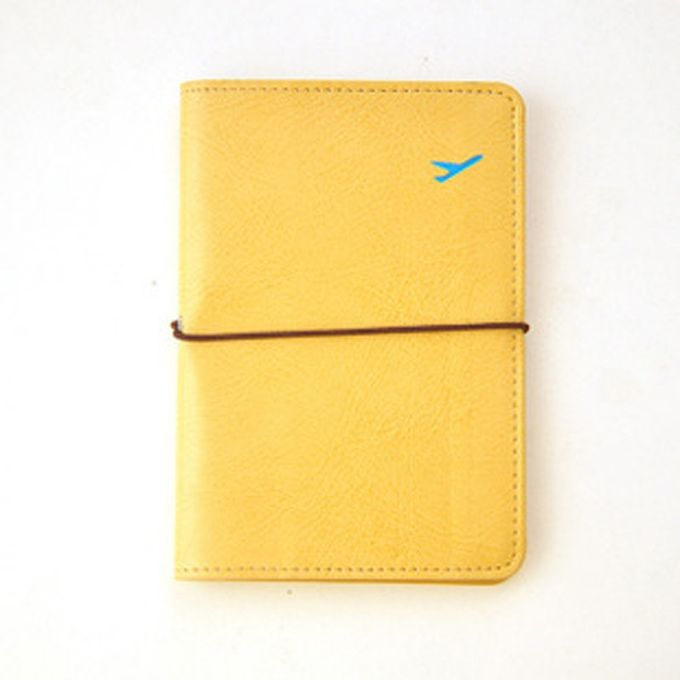 75cb838c7d13 Fashion Travel Leather Passport Holder Card Case Protector Cover Wallet Bag  Yellow