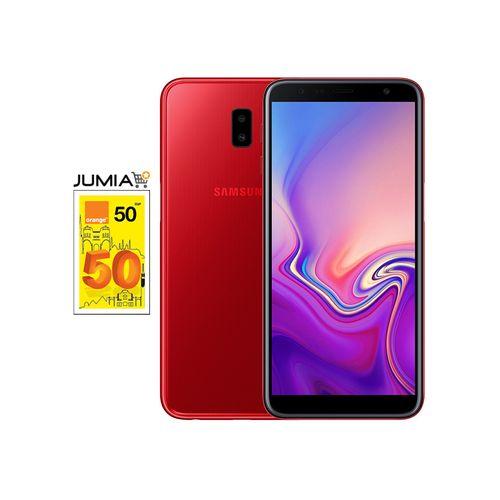 Galaxy J6+ موبايل - 6.0 بوصة - 32 جيجا - 4G - أحمر