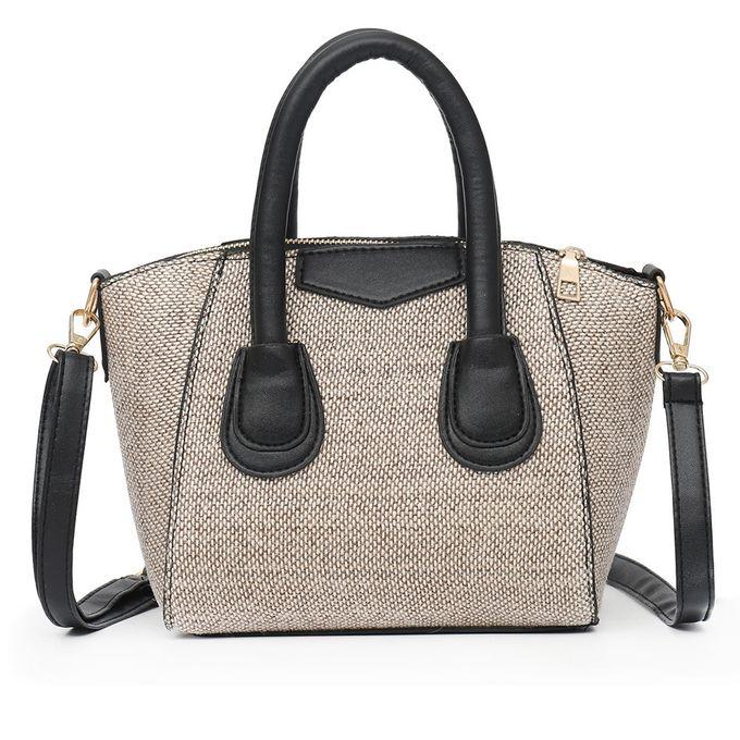 eebf831736b0a huskspo Vintage Women Linen Zipper Pure Color Crossbody Bag Shoulder Bag  Hand Bag