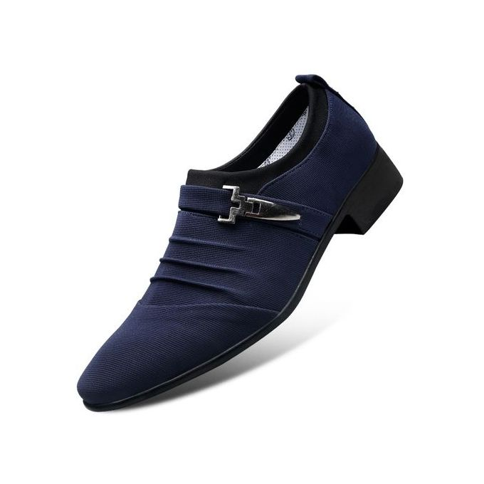 d891c9949 Men's Leather Oxford Dress Shoes Formal Cap Toe Slip On Modern Shoes-blue