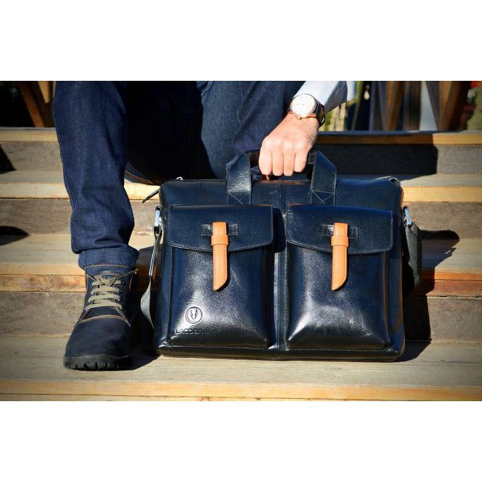 Sale On Business Bag Black Genuine Leather Jumia Egypt