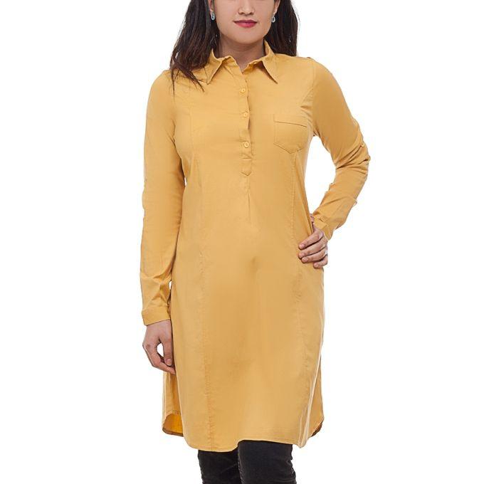 e93ada60321 Sale on Plus Size Cotton Tunic Top - Mustard   Jumia Egypt