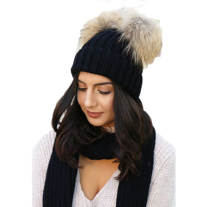 Tectores Fashion Trend Women Fashion Keep Warm Winter Hats Knitted Wool  Hemming Hat ec3abc92053