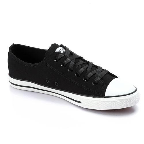 Casual Men Canvas Shoes - Black