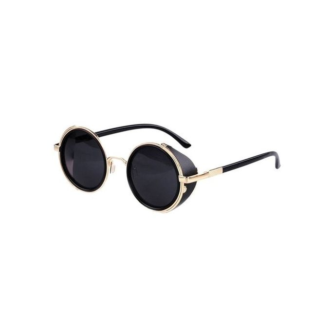 fb0c1e3b037b Eclipse Glasses Mirror Lens Round Glasses Cyber Goggles Steampunk  Sunglasses Vintage Retro