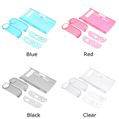 Detachable Protective Hard Case Cover Shell Skin For Nintendo-Switch &  Joy-Con Black Blue Red Clear PC Comfortable Easy To Grip